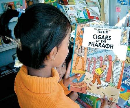 Entre les mains d'une jeune Indienne, les aventures de Tintin dans la langue de Shakespeare.
