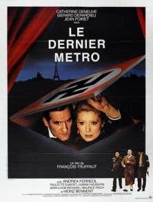 L'affiche originale du film «Le dernier métro» de François Truffaut