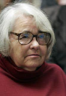 Kate Millett en novembre 2006 à la Sorbonne, à Paris, au colloque international Femmes de mouvements, hier, aujourd'hui, pour demain 1968-2006