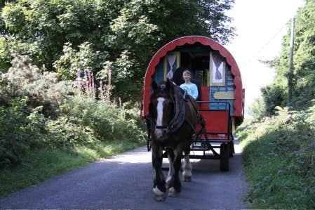 Une semaine de roulotte en Irlande, c&rsquo;est une semaine de d&eacute;livrance routini&egrave;re, avec cheval &agrave; l&rsquo;appui.<br />