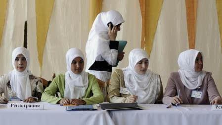 Conf&eacute;rence sur les femmes musulmanes et la d&eacute;mocratie en juillet dernier &agrave; Simferopol, en Ukraine.<br />
