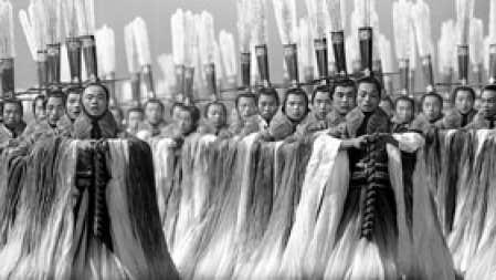 Une scène de la cérémonie d'ouverture des Jeux olymiques de Pékin, le 8 août dernier.