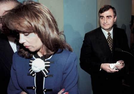 Audrey Best en compagnie de Lucien Bouchard, alors chef du Parti qu&eacute;b&eacute;cois.<br />