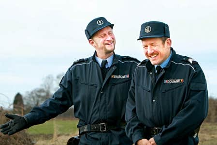 Beno&icirc;t Poelvoorde et Dany Boon dans Rien &agrave; d&eacute;clarer<br />