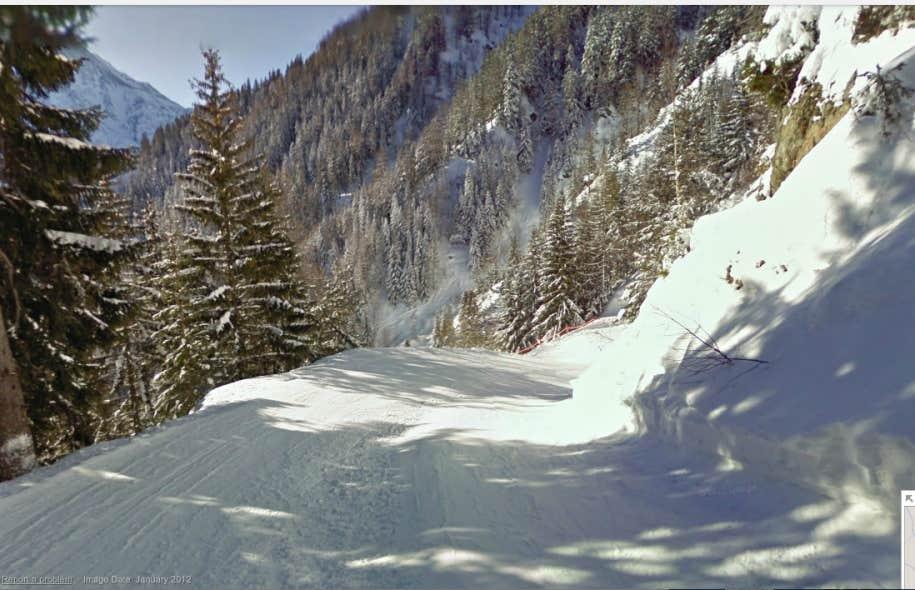 Une piste de Chamonix, en France, par Google Street View<br />