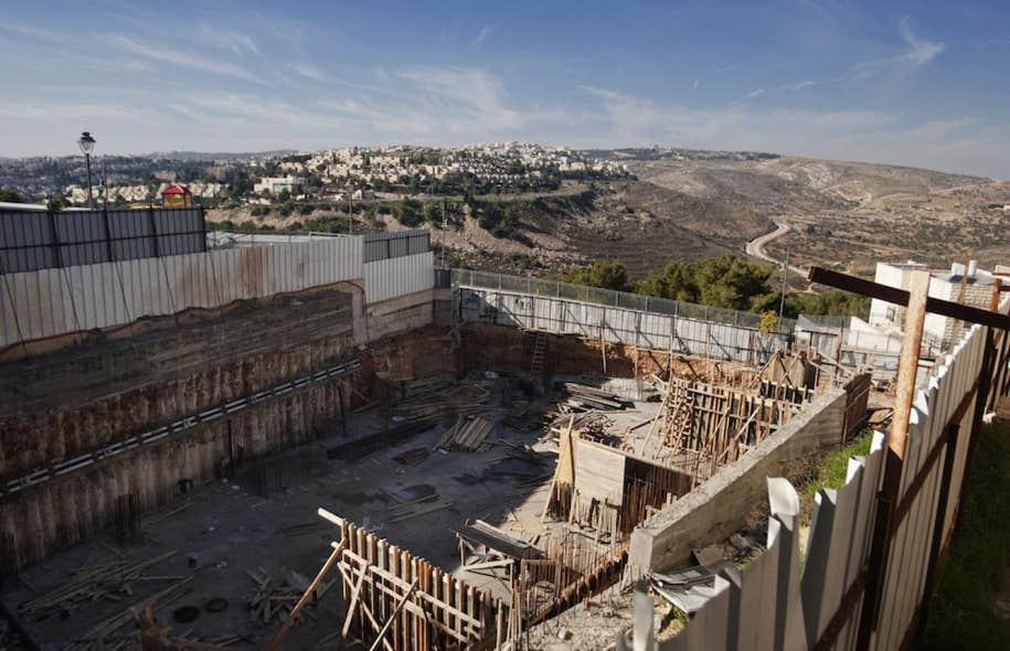 Un chantier de construction dans le quartier de Ramat Sholmo, dans Jérusalem-Est.