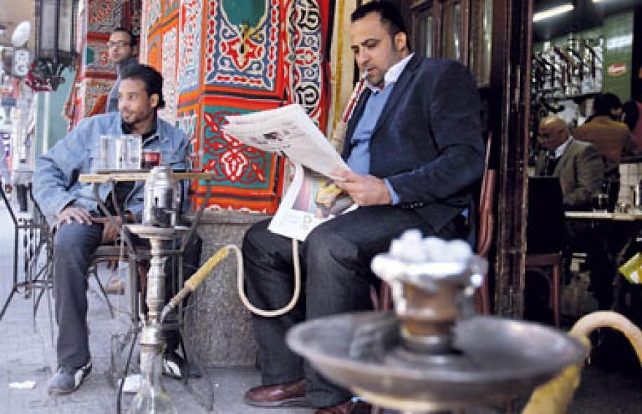 <div> Sc&egrave;ne de rue dimanche au Caire</div>