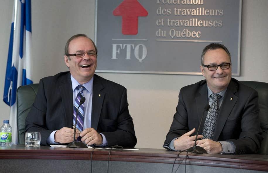 Michel Arsenault et Daniel Boyer, respectivement président et secrétaire général de la FTQ