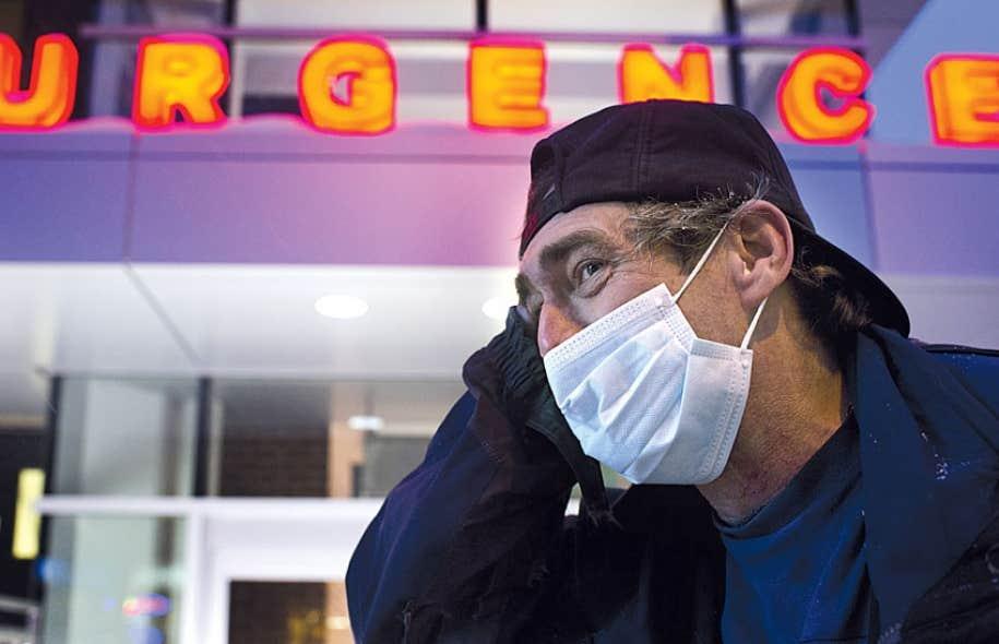 Le taux d'occupation des civières était jeudi de 191 % à l'hôpital Jean-Talon de Montréal (ci-dessus).