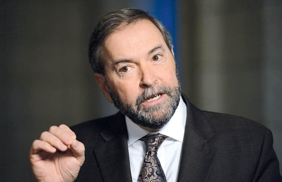 """« Le modèle """" nation à nation """" a produit des résultats. C'est une situation gagnante pour tout le monde », a plaidé Thomas Mulcair, en marge d'une réunion de deux jours de son caucus qui a débuté jeudi à Ottawa."""
