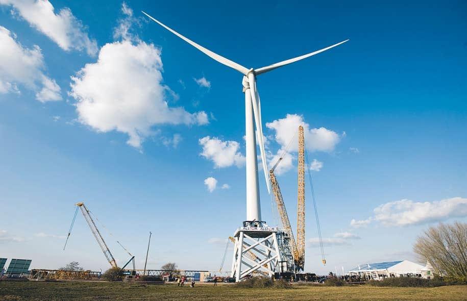 L'Europe a déjà bien entamé le virage vert, et les entreprises qui profiteront de l'accord de libre-échange seront celles qui seront conformes à des normes environnementales plus élevées qu'au Canada. Ci-dessus, une éolienne conçue par Alstom pour les champs prévus au large de la France.