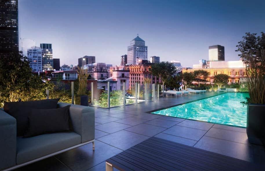 Sax vieux montr al une dition limit e dans un secteur for Appartement avec piscine montreal