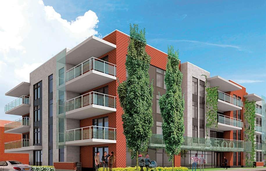 L'immeuble s'élèvera sur cinq étages, dont un étage de mezzanine.