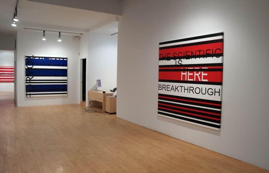 Vue d'ensemble de l'exposition CLICK HERE TO ENTER de Véronique Savard