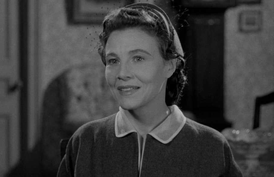 Rosanna Seaborn dans le rôle de la méchante Celeste du film Cœur de maman, une production dans laquelle elle avait investi et qui connut beaucoup de succès en 1953.