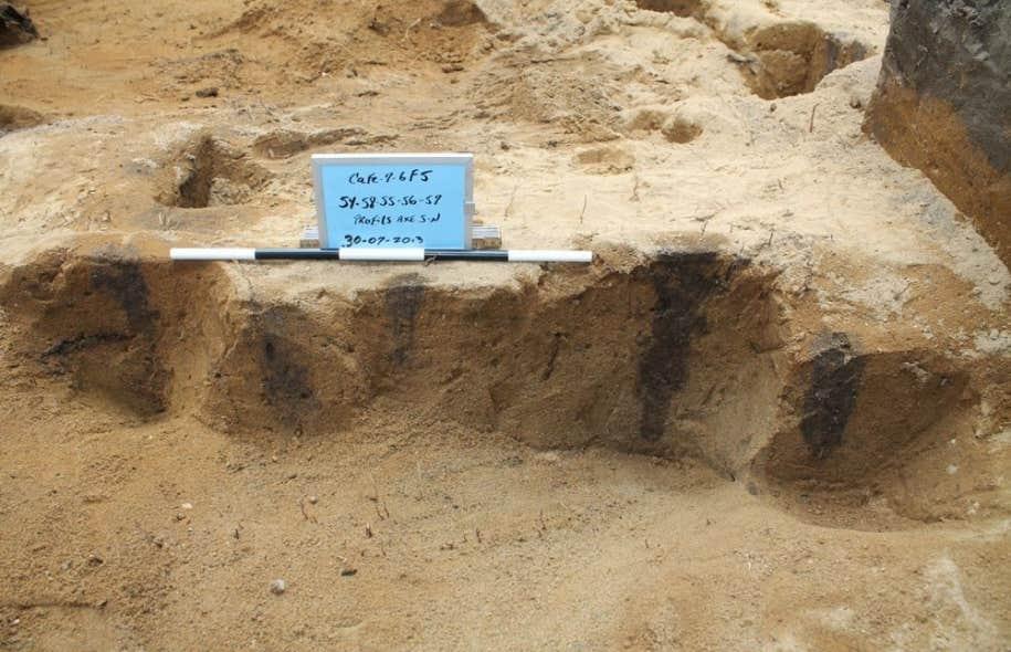 La découverte de pieux massifs de 20 à 25 centimètres de diamètre et d'une enfilade de traces de piquets dans la cour arrière du Musée des Abénakis, à Odanak, vient confirmer l'existence du seul et unique fort autochtone connu en Amérique du Nord.
