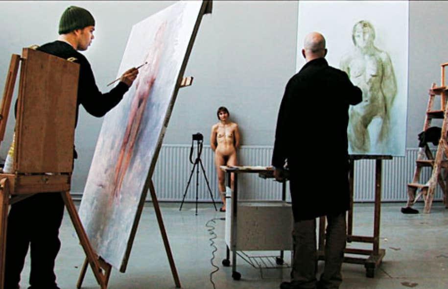 Elina Brotherus, Artists at Work, 2010, vidéo HD, 41 min 11 s, format 16: 9, couleur, son stéréo, dialogues en finnois sous-titrés en anglais. Avec l'aimable autorisation de l'artiste.