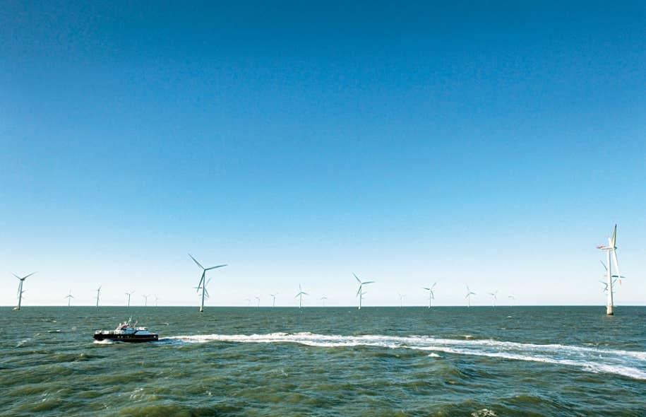 Le parc éolien de Horns Rev est situé à 14 kilomètres de la côte ouest du Danemark, au large du port d'Esbjerg.