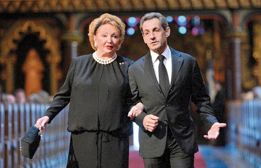 Jacqueline Desmarais, la veuve du grand patron de Power Corporation, était escortée par l'ex-président français Nicolas Sarkozy.