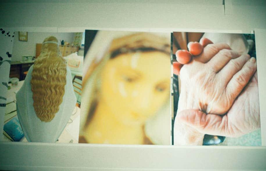 L'artiste Sylvie Cotton expose ses œuvres-traces qui ont découlé d'une insertion en CHSLD.