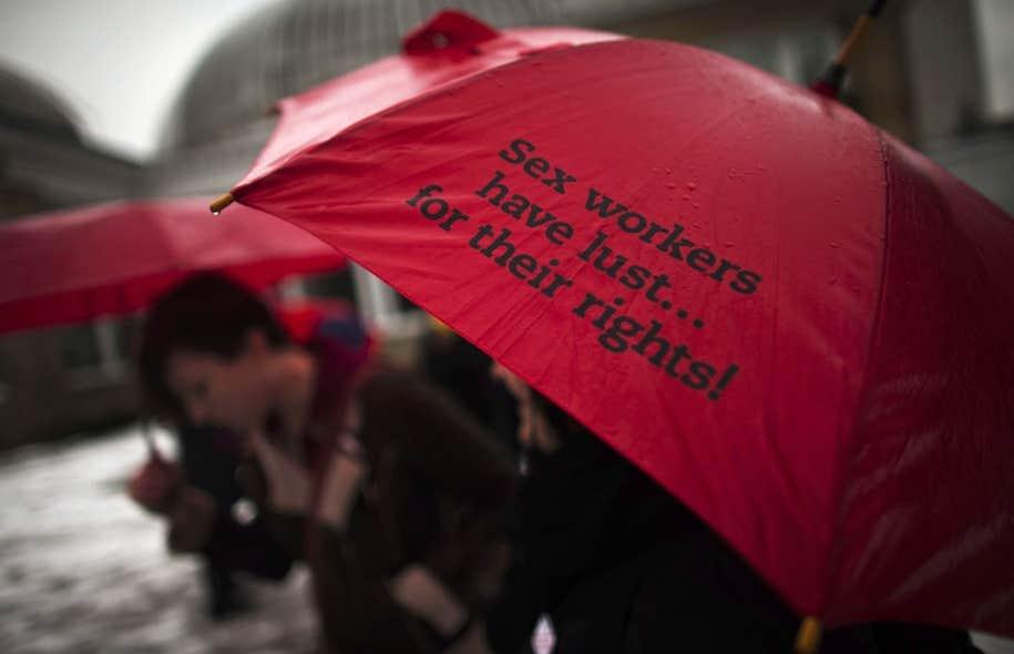 Manifestation à Toronto en décembre dernier en appui aux travailleuses et travailleurs du sexe