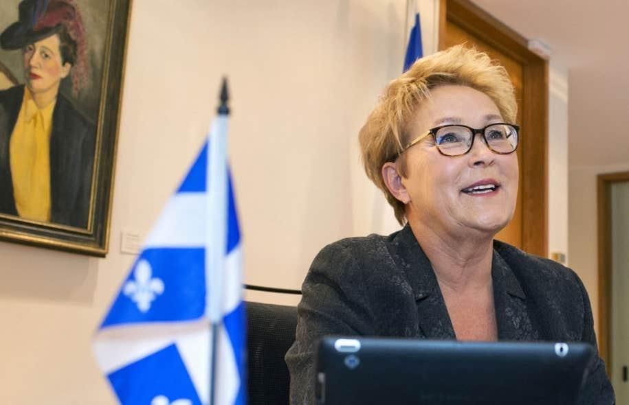 À la veille du déclenchement des élections, la première ministre du Québec, Pauline Marois, a accueilli le photographe du Devoir à son bureau de Montréal mardi.