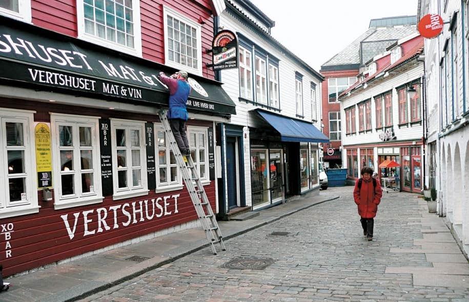 Une rue du centre-ville de Stavanger, dans le sud-ouest de la Norvège.