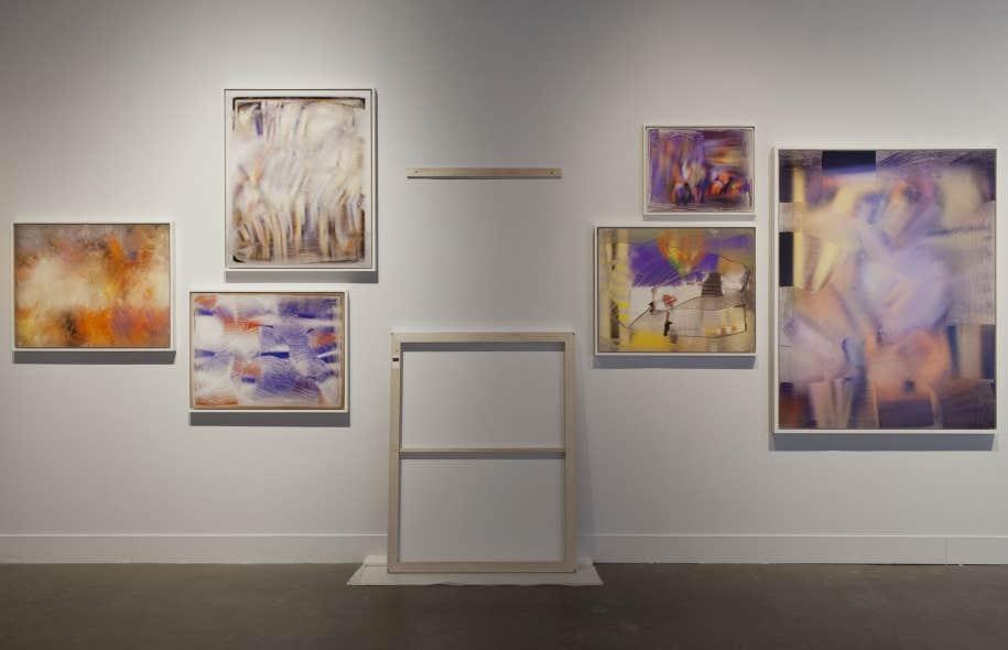 Vue de l'exposition Dépeindre où l'accrochage fait dialoguer les formes (ou les formats).