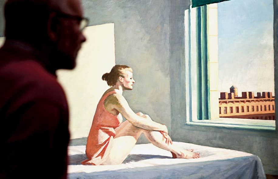 L&rsquo;original de Hopper :<em> Morning Sun</em>, 1952.