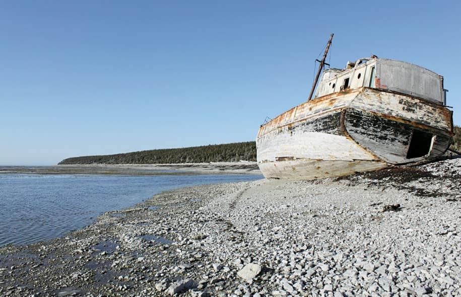 Anticosti a toujours été considérée comme une île de naufrage ainsi qu'en témoigne l'épave de la Calou, navire échoué en 1982.