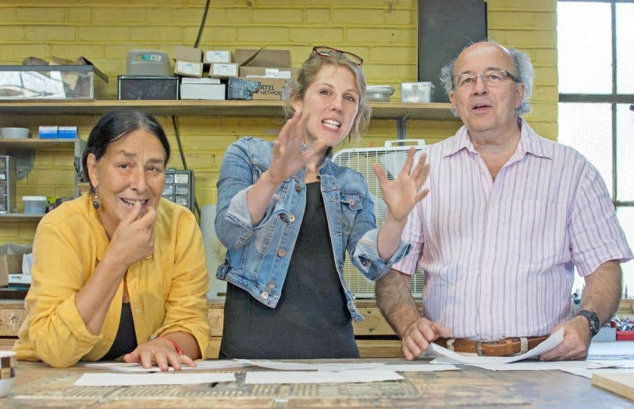 Suzanne Lebeau, Marie-Ève Huot et Gervais Gaudreault, le trio dynamique derrière Le Carrousel. Huot doit reprendre les rennes de la compagnie en 2017.