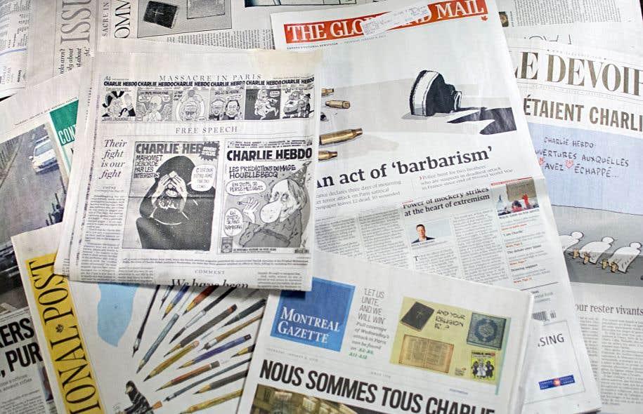 Si le «National Post» a publié jeudi de nombreux dessins et unes de «Charlie Hebdo», d'autres, comme le «Globe and Mail» et «The Gazette», ont plutôt choisi de n'en publier aucune.