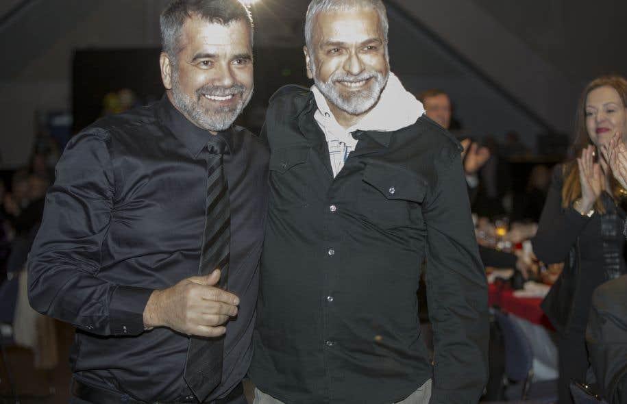 Victor Pilon et Michel Lemieux, lauréat du Grand prix du Conseil des arts de Montréal