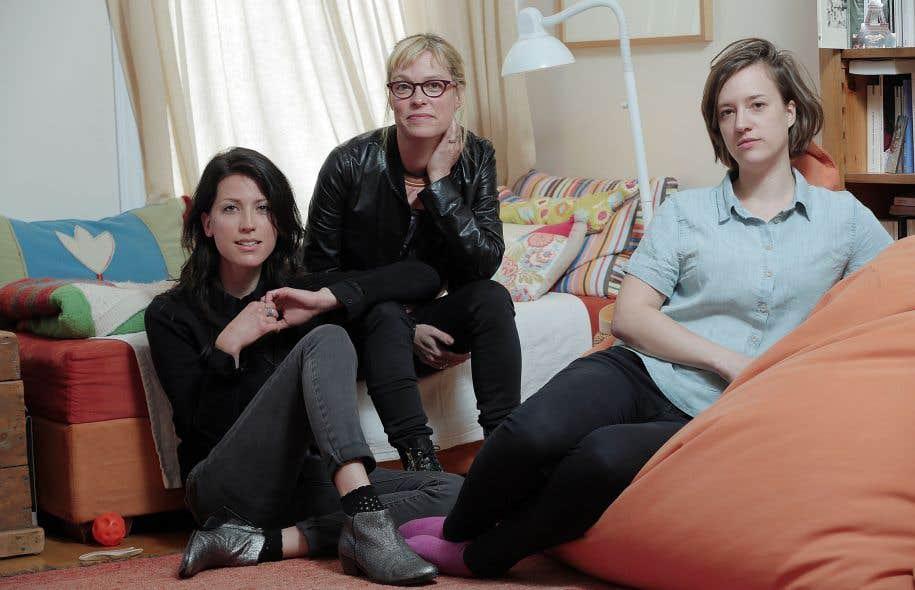 Les directrices du collectif: Laurence Pelletier, Martine Delvaux et Valérie Lebrun