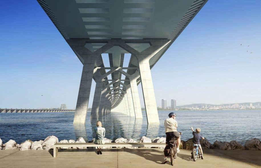 Maquette du futur pont Champlain