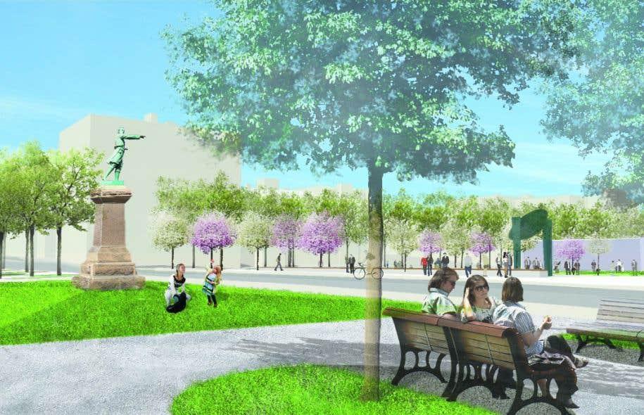Concept d'aménagement des îlots Ouest du square Viger