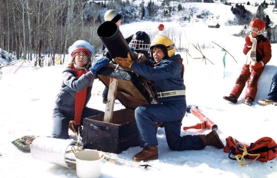 Dites, père Noël : la guerre, est-ce que c'est un jeu d'enfants ? Photo tirée du film d'André Melançon, «La guerre des tuques» (1984).