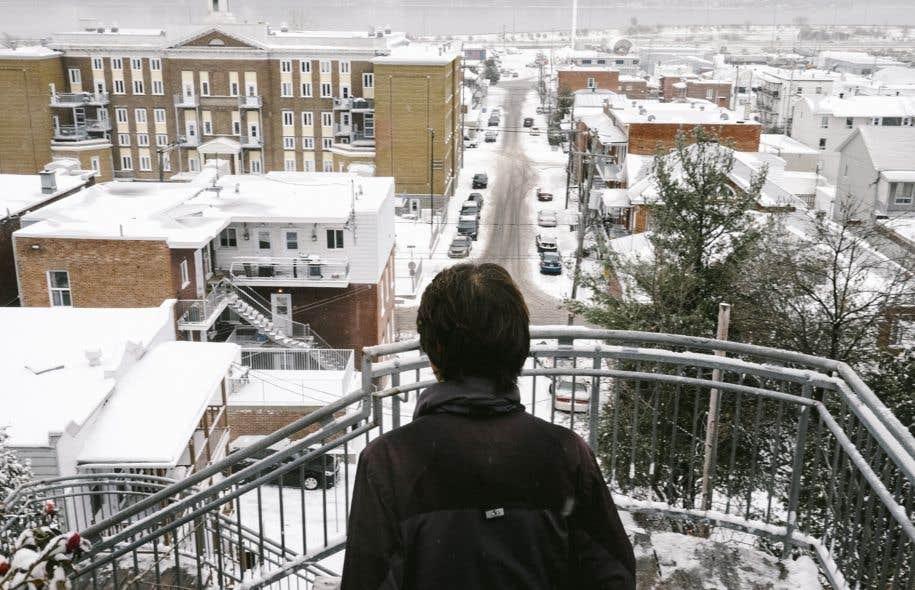 Vue du quartier à partir du boulevard François-Xavier, à la hauteur de la 113e rue.