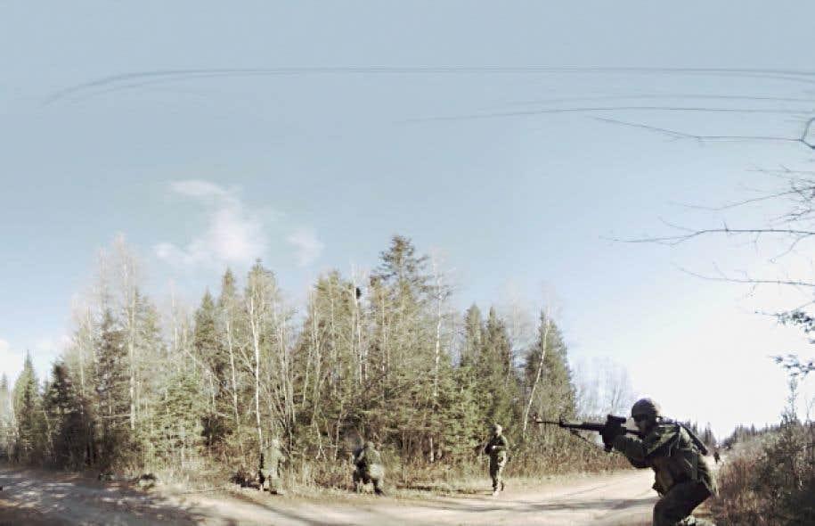 Un reportage immersif produit par «Urbania» amène le téléspectateur au cœur d'un entraînement de soldats à la base militaire de Valcartier.
