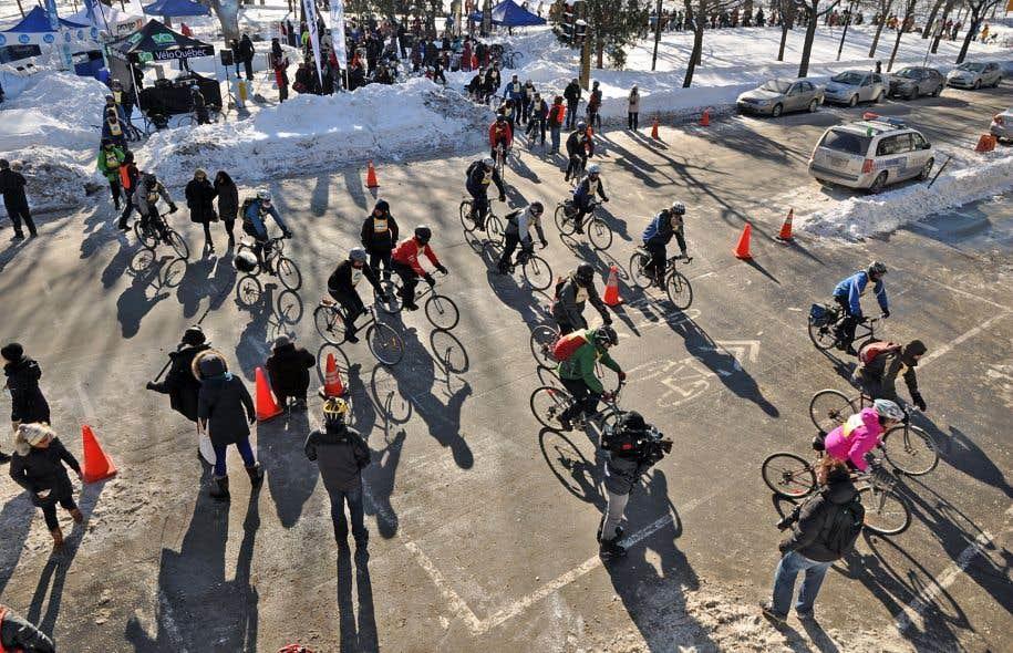L'événement «Vélo sous zéro» à Montréal, en 2014