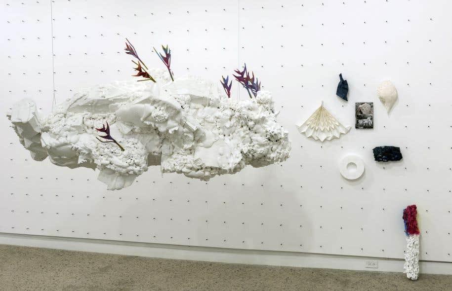 La plus récente exposition du jeune artiste Philippe Caron Lefebvre est celle qui s'approche le plus de l'installation immersive.