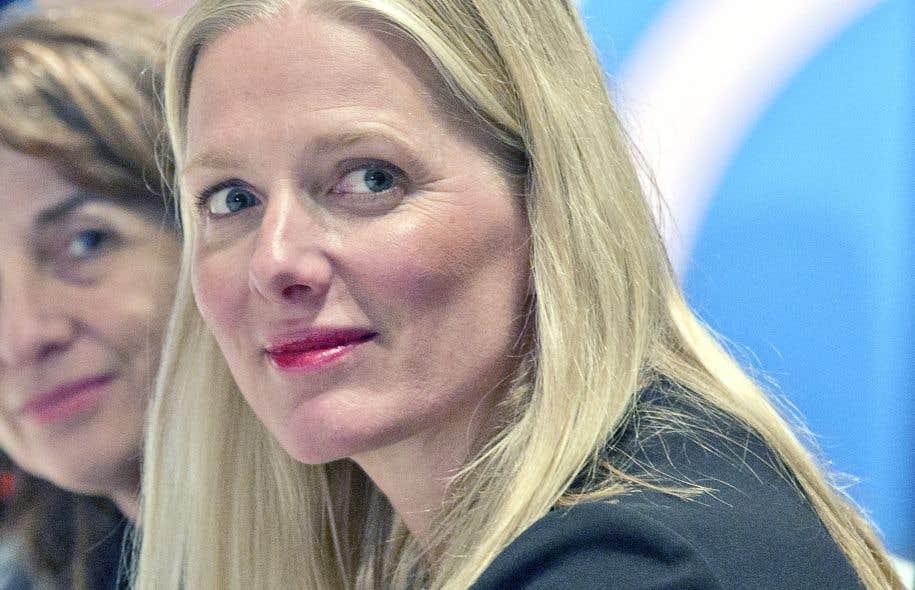 La ministre Catherine McKenna était l'invitée du Conseil des relations internationales de Montréal, mardi.