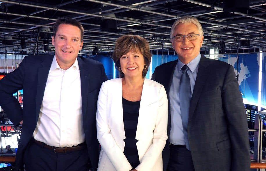 Patrice Roy, Céline Galipeau et Michel Viens