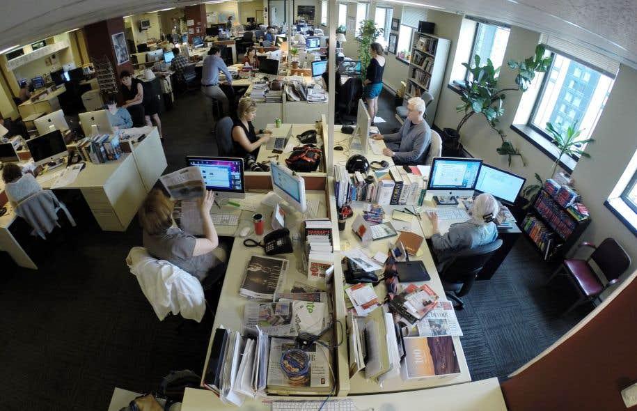 Patrons de presse et journalistes se pencheront sur les modes de financement des médias à l'heure du tout au numérique. Ci-dessus, la salle de rédaction du «Devoir».