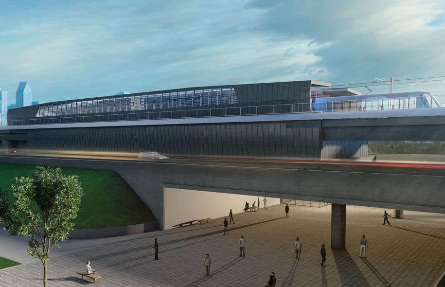 Le réseau proposé par la CDPQ devrait s'étendre sur 67 kilomètres de Brossard à Sainte-Anne-de-Bellevue, en passant par l'aéroport Montréal-Trudeau.