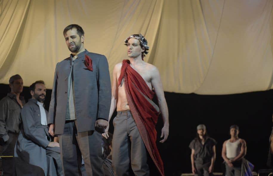 Etienne Dupuis (Simon Doucet) et Jean-Michel Richer (Comte Vallier de Tilly)