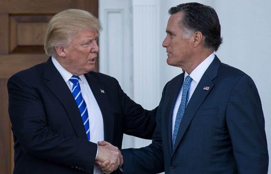 Le recrutement de Mitt Romney, candidat du parti républicain à la Maison Blanche en 2012, dans la future administration Trump, par exemple comme secrétaire d'État, représenterait une formidable prise et pourrait rassurer les alliés des États-Unis.