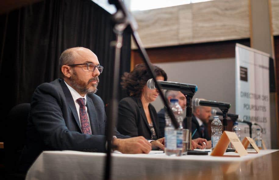 Conférence de presse du Directeur des poursuites criminelles et pénales à Val-d'Or le 18 novembre dernier