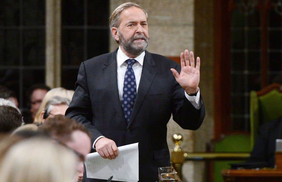Thomas Mulcair à la période de questions, mercredi
