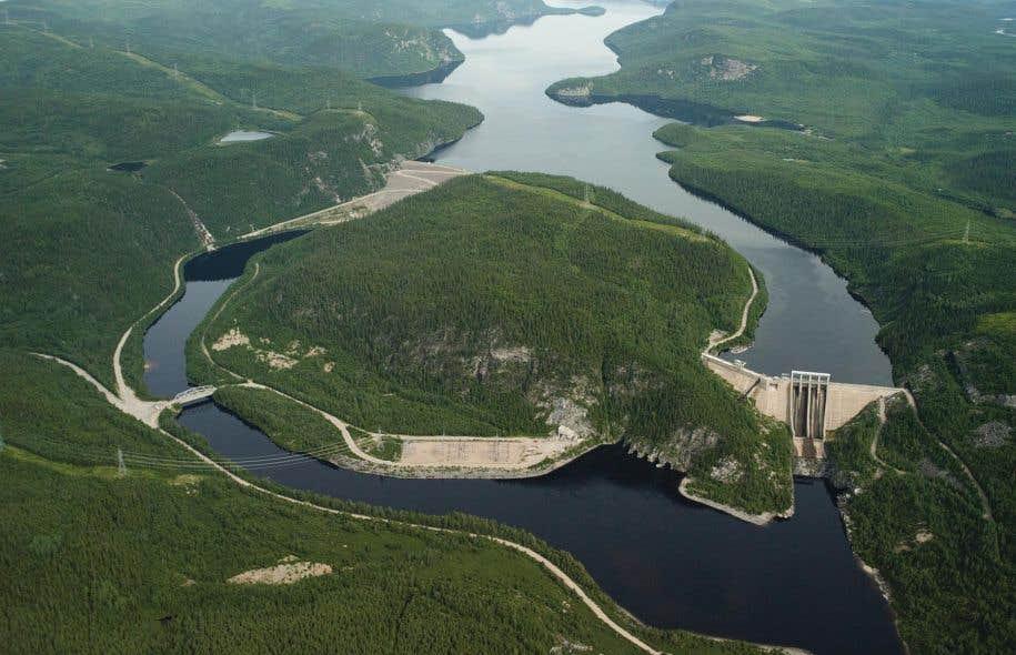 Selon Hydro-Québec, l'eau dans ses réservoirs est froide et bien oxygénée, ce qui ne favorise pas la formation de méthane. Sur la photo: la centrale René-Lévesque, sur la Côte-Nord.